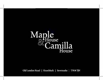 Camilla & Maple House Brochure