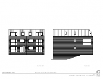 FRONT BLOCK -SOUTH AND WEST ELEVATIONS