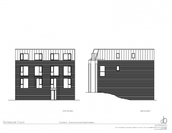 FRONT BLOCK -NORTH AND EAST ELEVATIONS